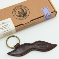 'Captain Fawcett Ltd' - Leather Moustache Keyring