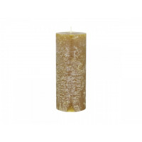 Rustic Pillar Candle – Mustard – 150hrs