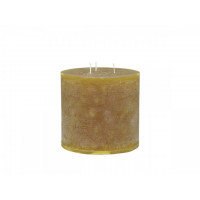 Rustic Pillar Candle – Mustard - 80hrs