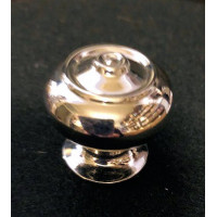 Edwardian Bloxwich Cupboard Knob - Nickel - Small