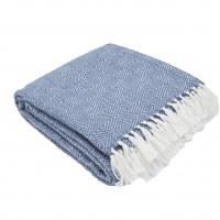 Weaver Green Diamond Blanket - Navy/White
