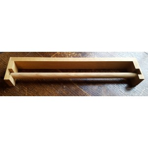 Roller Towel Holder - Oak - Square Edged