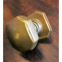 Reclaimed Octagonal Brass Centre Door Pull