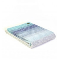 Ombre Throw - Pure New Wool - Seaside Blue or Rosewood