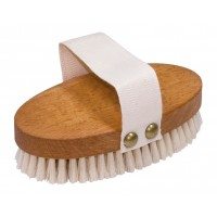 Oval Beechwood Massage Brush - Light Bristle