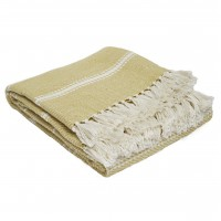 Weaver Green Oxford Stripe Blanket - Gooseberry