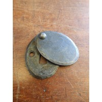 Hand Forged Iron Covered Escutcheon - Large