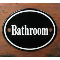 'Bathroom' Sign - No 1