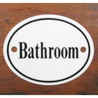 'Bathroom' Sign - No 3
