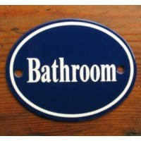 'Bathroom' Sign - No 5