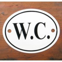 'W.C.' Sign - No 4