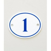 House Sign - Oval - No 4 - Allow 3 weeks For Delivery