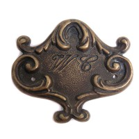 WC Doorplate - Antique Brass