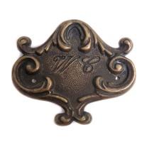 WC Doorplate - Antique Brass