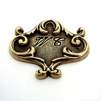 WC Doorplate - Polished Brass