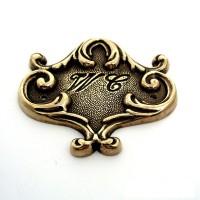 WC Doorplate - Brass