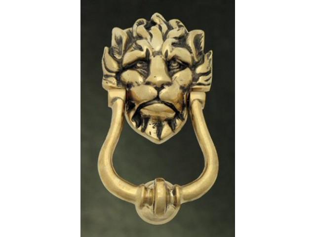 Lions head door knocker brass - Lions head door knocker brass ...