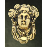 Regency Head Door Knocker - Brass