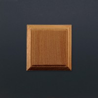 Mounting Block - Sapele - Square
