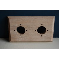 Pre - Drilled 'Bakelite' Switch Mounting Block  - Natural Oak - Double / 2 Gang