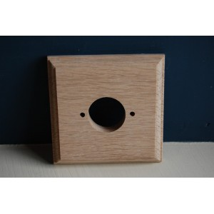 Pre - Drilled 'Bakelite' Switch Mounting Block - Natural Oak - Single / 1 Gang