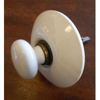 Reclaimed White Ceramic Servants Bell Pull with Brass Collar