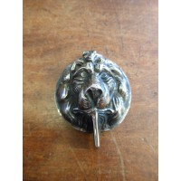 Lions Head Lock Cover - Aged  Nickel
