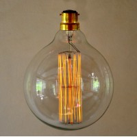 Vintage Style Globe Light Bulb -  Large Squirrel Cage