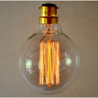 Vintage Style Globe Light Bulb - Medium Squirrel Cage