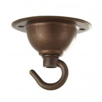 Mini Ceiling Rose with Hook - Available in 5 Metal Finishes
