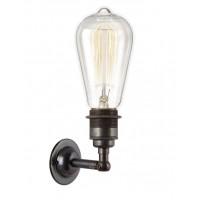 Period Wall Light - Dark Bronze, E27 Bulb Holder