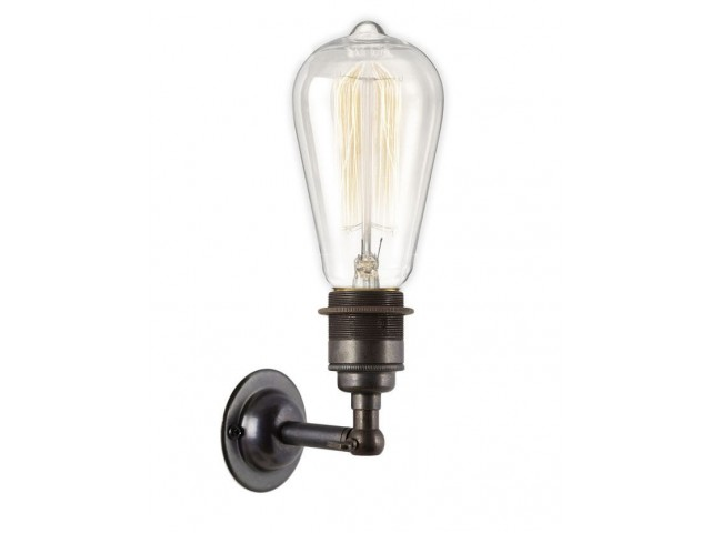 Period Wall Light - Dark Bronze, E27 Bulb Holder