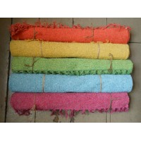 Hand Loomed - 100% Cotton Rug - BRIGHTS