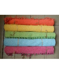 Hand Loomed - 100% Cotton Rug - 60 x 90 cm - BRIGHTS 5 colours