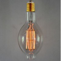 Vintage Style Lemon Light Bulb - SMALL Squirrel Cage E40/E27 Screw
