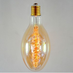 Vintage Style Avocado Pear Light Bulb - Spiral Filament E40/E27 Screw