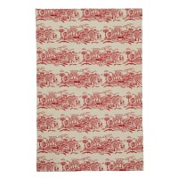 Block Print Houses Cotton Tea Towel