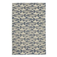 Block Print Salmon Cotton Tea Towel