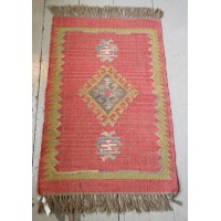 Kilim Rug No 1 - Jute and Wool - 60 x 90cm