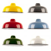 Enamel Dome Shade - 6 Colours - Bayonet Only