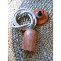 Rusted Edison Screw Pendant Set - Fabric Cable