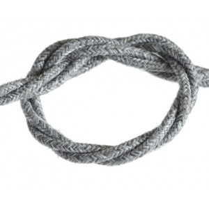 """Linen"" Grey Braided Electric Cable"
