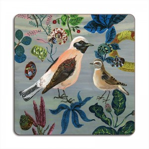 Birds in the Dunes Placemat - Wheatears