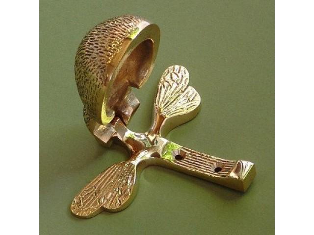 Bee Door Knocker Brass Or Nickel
