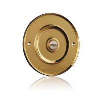 Venue Bell Push - Brass - Large - Brass or Porcelain Press