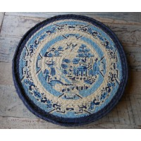 Set of 6 Braided Place Mats - Willow Pattern