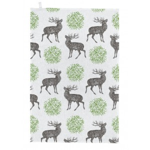 Thornback & Peel Tea Towel - Stag & Mistletoe