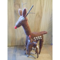 Felt Reindeer Duo - Decoration
