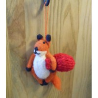 Felt Hanging Fox Decoration