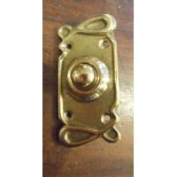 Art Nouveau Style Brass Bell Push